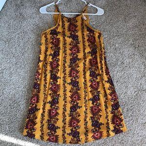 Yellow flowered sun dress